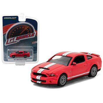 2011 Ford Shelby Mustang GT-500 Race Red with SVT Performance Package 1/64 Diecast Model Car by Greenlight