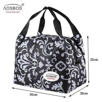 Aosbos Brand Thermal Insulated Lunch Bags Keep Food Fresh Lunch Box Bag Picnic Travel Storage for Women Kids Tote Handbag