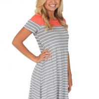 One Dance Dress in Coral   Monday Dress Boutique