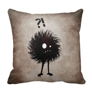 Gothic Wondering Evil Bug Character Kids Throw Pillows