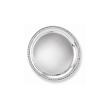 Silver-plated 8 Round Fancy Edge Tray