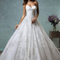 Sleeveless White Bridal Wedding Dress with Custom Plus Size 2 4 6 8 10 12 14 16