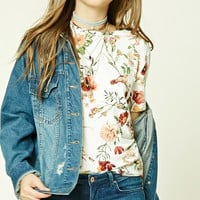 Floral Print Boxy Tee