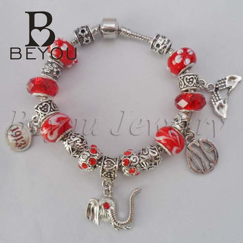 2015 Newest Delta Sigma Theta Sorority Beaded Bracelet With Elephant