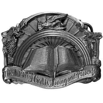 Sports Accessories - Word of God Antiqued Belt Buckle