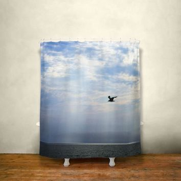 Sea Bird, Nautical Shower Curtain