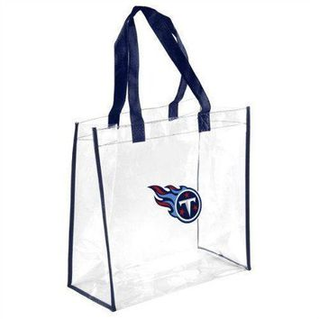 Tennessee Titans Clear Reusable Plastic Tote Bag NFL 2017 Stadium Approved