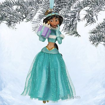 Licensed cool NEW 2013 Disney Store Princess JASMINE ALADDIN Sketchbook Christmas Ornament