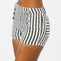 High Waist Striped Shorts