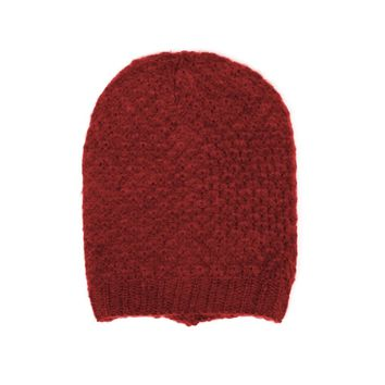 Mid-weight Fall Winter Ringlet Patterned Knit Beanie Hat