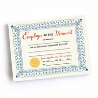 Employee of the Moment Tear-Off Certificate Pad - 75 Awards