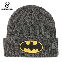 [COSPLACOOL] Men's and women's hat autumn and winter warm knitted cap cartoon batman hat