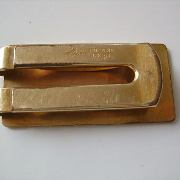 "ANSON Pat. Pend 12K G.F. Gold Filled Classic Vintage 1960s Money Clip 2"" X 1"" Weight 15.4Grams Gentlemen's Accessory Men's Utility Man Stuff"