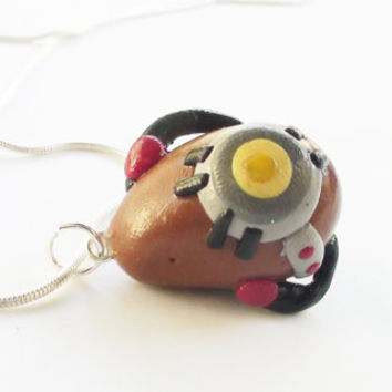 Portal 2 GLaDOS Potato Necklace