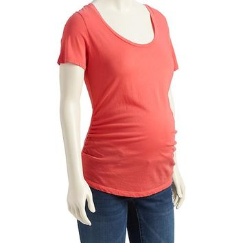 Old Navy Scoop Neck Shirred Tee