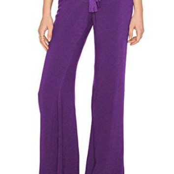 LOV ANNY Womens Solid Color Stretch Yoga Flared Pants Bell Bottom Pants