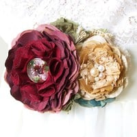 Colorful Wedding Dress Sash ~ Red and Gold