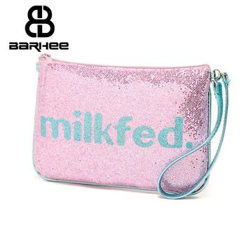 Scale Supply Spark Cosmetic Bag Women Hand Bag Sequins Purse Makeup Holder Wedding Gift Make up Bag Clutch Handbag Pouch Tag