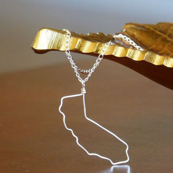 California State outline necklace - pendant
