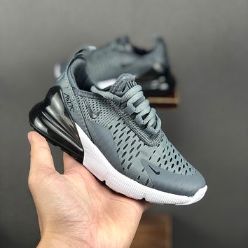 Nike Air Max 270 Grey White Black Child Sneaker Toddler Kid Shoes - Best Deal Online