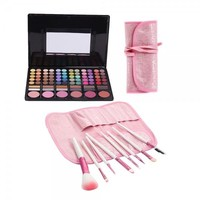78 Color Eyeshadow Palette + 8pcs Brush Makeup Set F010