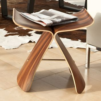 Yanagi Bentwood Butterfly Stool