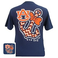 Auburn Tigers War Eagle Anchor Bow Chevron Bright T Shirt