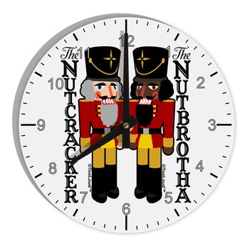 "The Nutcracker and Nutbrotha 8"" Round Wall Clock with Numbers by TooLoud"
