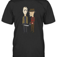 Beavis and Butthead - Halloween Humor T-Shirt - Freddy Vs Jason
