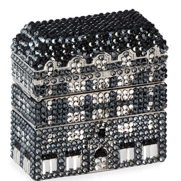 Judith Leiber Couture Crystal Bergdorf Goodman Storefront Pillbox, Silver/Multi