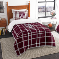 Texas A&M Aggies NCAA Twin Comforter Set (Soft & Cozy) (64 x 86)