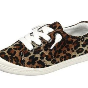 Fall Back To School Girls Cheetah Multi Sneakers