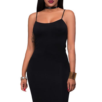Black Seamless Bodycon Dress