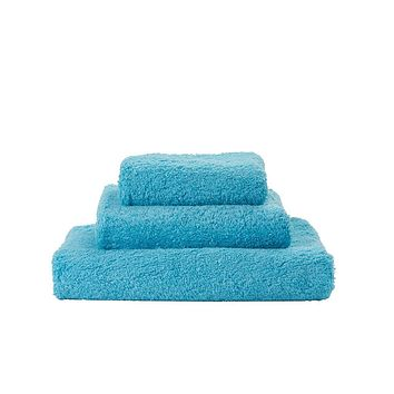 Super Pile Turquoise Towels by Abyss and Habidecor