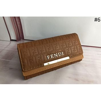 Fendi 2018 autumn and winter new long women's fashion wild wallet multi-card wallet #6