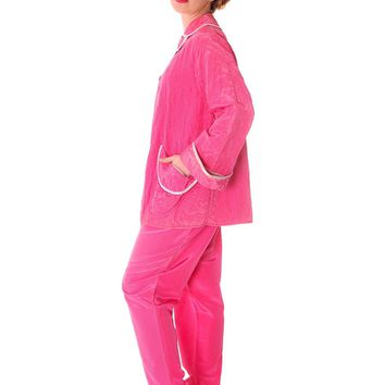 Vintage I Love Lucy Pajamas Womens Fuchsia Lyn Delle 1950s 46-28-40  US Size 6 Lyn Delle