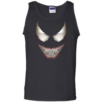 Marvel Venom Big Face Grin Halloween Costume Graphic  Tank Top