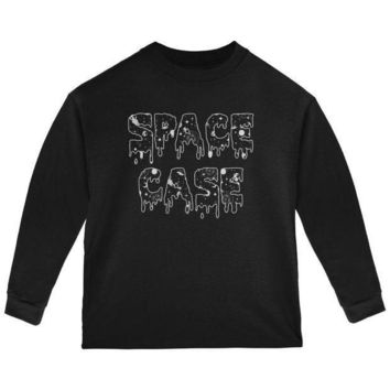 PEAPGQ9 Halloween Space Case Galaxy Toddler Long Sleeve T Shirt