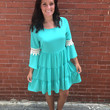 Bell of the Ball Dress- Teal
