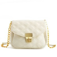 Quilted Chain-Strap Cross-Body Bag: Charlotte Russe
