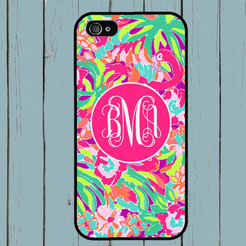 iPhone 6 Case iPhone 5S Case Lilly Pulitzer Inspired Monogram iPhone 5 Case iPhone 4 Case iPhone 4S Case iPhone 5C Case