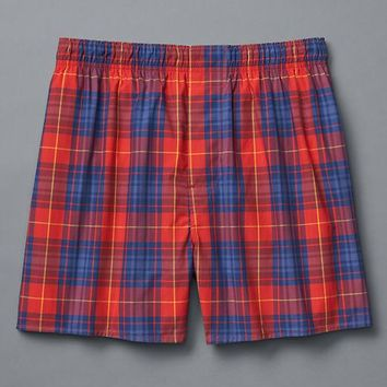 Gap Men Winter Plaid Boxers