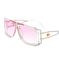 Trend Brand Designer Oversized Clear Colorful Sunglasses Women Ladies