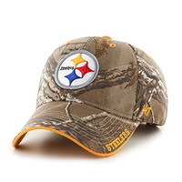 NFL Pittsburgh Steelers '47 Frost MVP Camo Adjustable Hat, One Size Fits Most, Realtree Camouflage