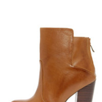 Chinese Laundry Gladly Cognac Leather High Heel Ankle Boots