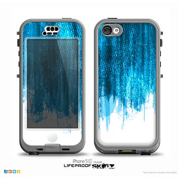 The Brushed Vivid Blue & White Background Skin for the iPhone 5c nüüd LifeProof Case