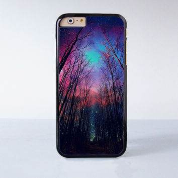 Wood Star Night  Plastic Phone Case For iPhone 6  More Style For iPhone 6/5/5s/5c/4/4s