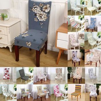 1pcs Butterfly Flower Stretch Home Decor Dining Chair Cover Spandex Decoration covering Office Banquet Hotel chair Covers 43016