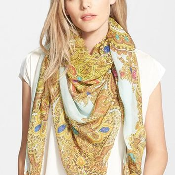 Women's Ted Baker London 'Jewel' Paisley Print Square Scarf