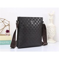 """Louis Vutitton"" Men Casual Briefcase Fashion Classic Embossed Letter Logo Single Shoulder Messenger Bag"